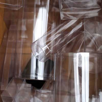 clear plastic tubes in box