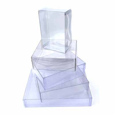 Clear plastic packaging square designs
