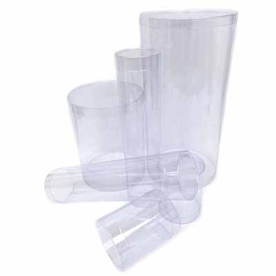 Clear plastic packaging round tube design